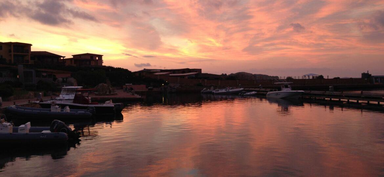 Porto di Cavallo all'alba